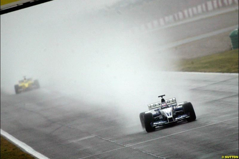 Juan Pablo Montoya, Williams, during testing at the Barcelona circuit, Spain. 19th February, 2003.