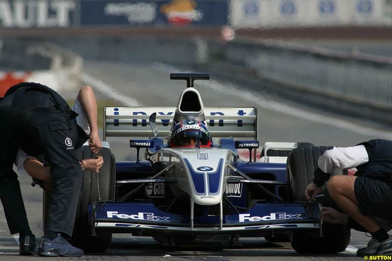 Williams during testing at Barcelona, Spain. 18th February 2003.