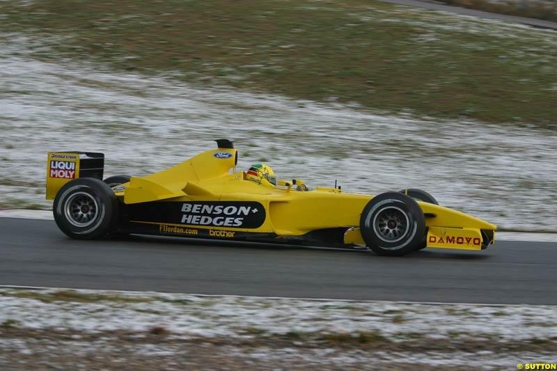 Ralph Firman, Jordan, during testing at Barcelona, Spain. 18th February 2003.