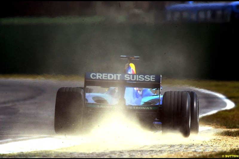 Heinz Harald Frentzen, Sauber, during testing at Imola. Italy, 18th February 2003.