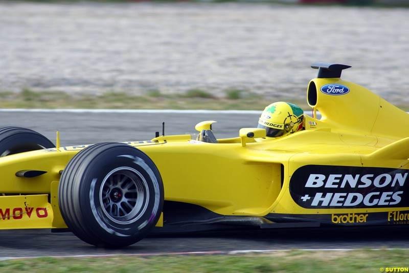 Ralph Firman, Jordan EJ13, during testing at the Barcelona circuit in Spain. 17th February, 2003.