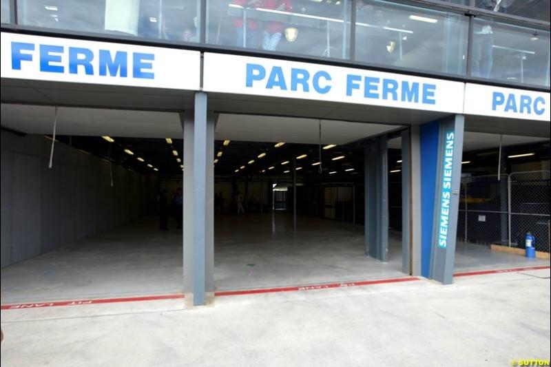 Empty Parc Ferme. Australian GP, Melbourne. March 8th 2003.