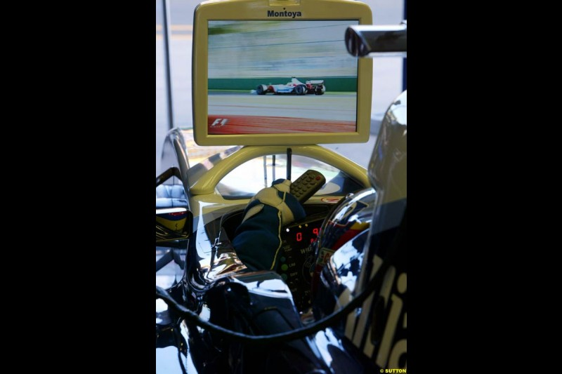 Juan Pablo Montoya, Williams, during Saturday practice. Australian GP, Melbourne. March 8th 2003.