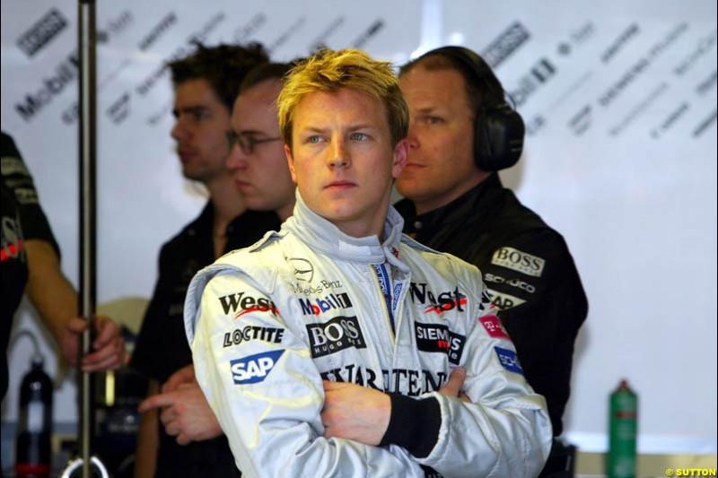 Kimi Raikkonen, McLaren, during Saturday practice. Australian GP, Melbourne. March 8th 2003.