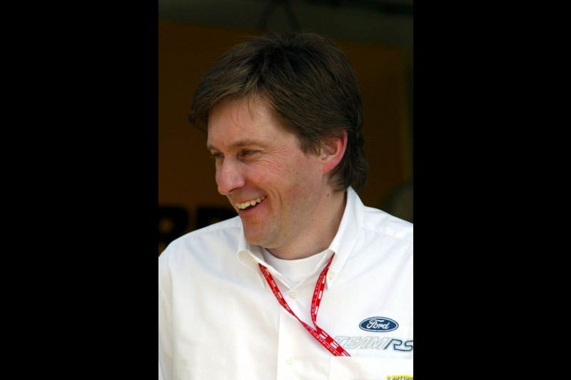Martin Whitaker, Ford Europe, at Sepang International Circuit. Malaysian GP, March 21st 2003.