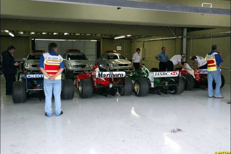 Friday at Interlagos. Brazilian Grand Prix. Sao Paulo, April 4th 2003.