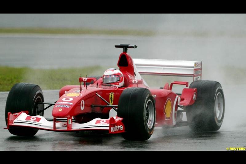 Friday practice for the Brazilian Grand Prix. Interlagos, Sao Paulo. April 4th 2003.