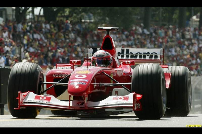 Brazilian Grand Prix Saturday qualifying at Interlagos. Sao Paulo, April 5th 2003.