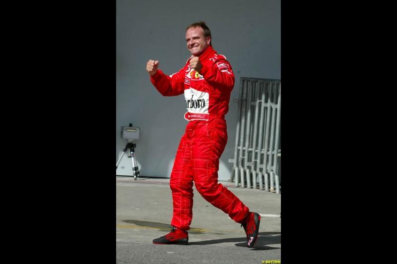 Rubens Barrichello. Brazilian Grand Prix Saturday qualifying at Interlagos. Sao Paulo, April 5th 2003.