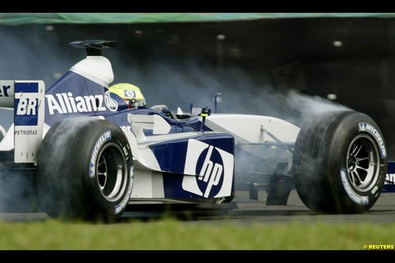 Saturday practice for the Brazilian Grand Prix. Interlagos, Sao Paulo, April 5th 2003.