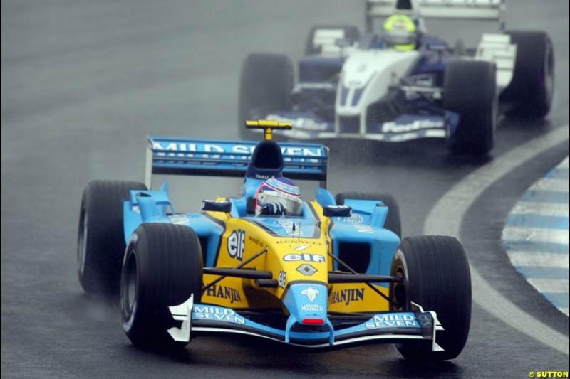 Jarno Trulli, Renault, during the Brazilian Grand Prix. Interlagos, Sao Paulo, April 6th 2003.