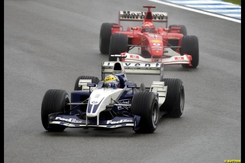 Ralf Schumacher, Williams. Brazilian Grand Prix. Interlagos, Sao Paulo, April 6th 2003.