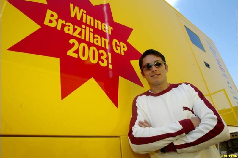 San Marino Grand Prix preparations at the Imola circuit, Italy. 17th April, 2003.
