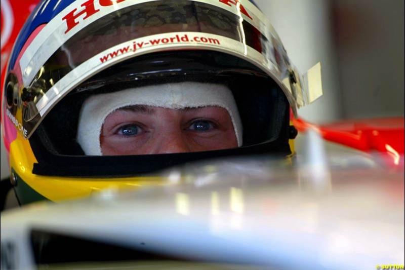 Jacques Villeneuve, BAR. Friday, Spanish Grand Prix at the Circuit de Catalunya. Barcelona, Spain. May 2nd 2003.
