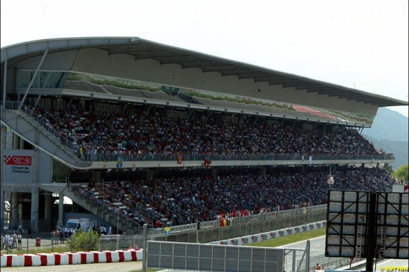 Friday, Spanish Grand Prix at the Circuit de Catalunya. Barcelona, Spain. May 2nd 2003.