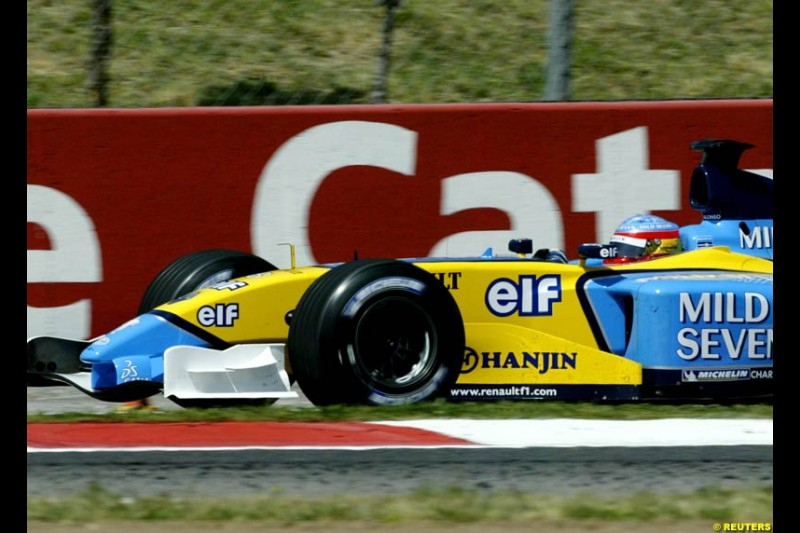 Fernando Alonso, Renault. Friday, Spanish Grand Prix at the Circuit de Catalunya. Barcelona, Spain. May 2nd 2003.