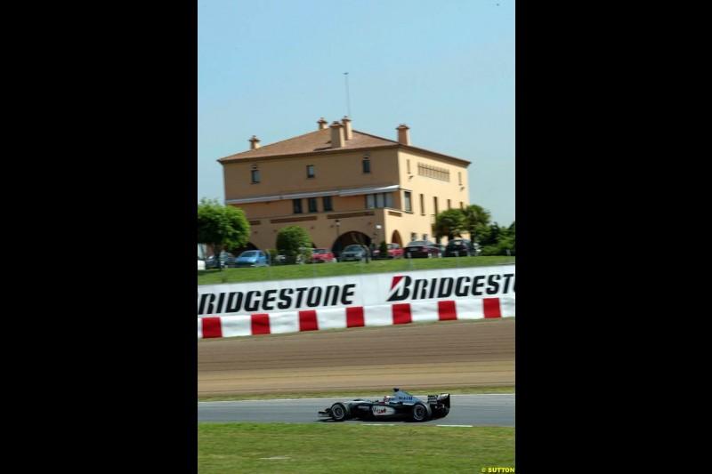 Kimi Raikkonen, McLaren. Friday, Spanish Grand Prix at the Circuit de Catalunya. Barcelona, Spain. May 2nd 2003.