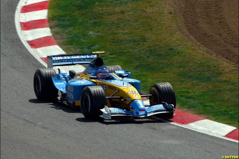 Jarno Trulli, Renault. Friday, Spanish Grand Prix at the Circuit de Catalunya. Barcelona, Spain. May 2nd 2003.