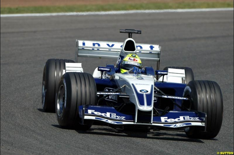Ralf Schumacher, Williams. Friday, Spanish Grand Prix at the Circuit de Catalunya. Barcelona, Spain. May 2nd 2003.