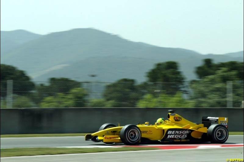 Ralph Firman, Jordan. Friday, Spanish Grand Prix at the Circuit de Catalunya. Barcelona, Spain. May 2nd 2003.