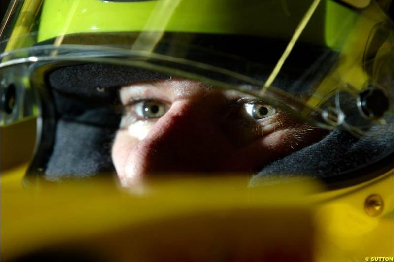 Ralph Firman, Jordan. Friday morning testing, Circuit de Catalunya. Barcelona, Spain. May 2nd 2003.