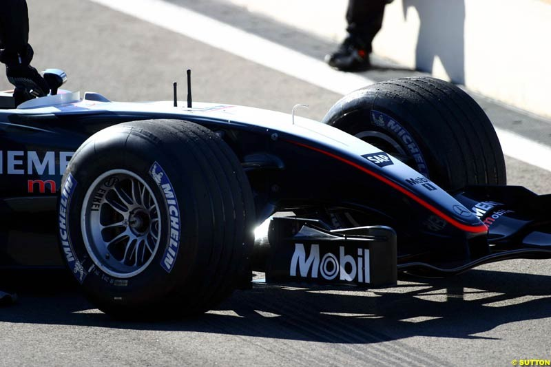 Alex Wurz, McLaren, during testing at the Paul Ricard circuit in Le Castellet, France. 23rd May, 2003.