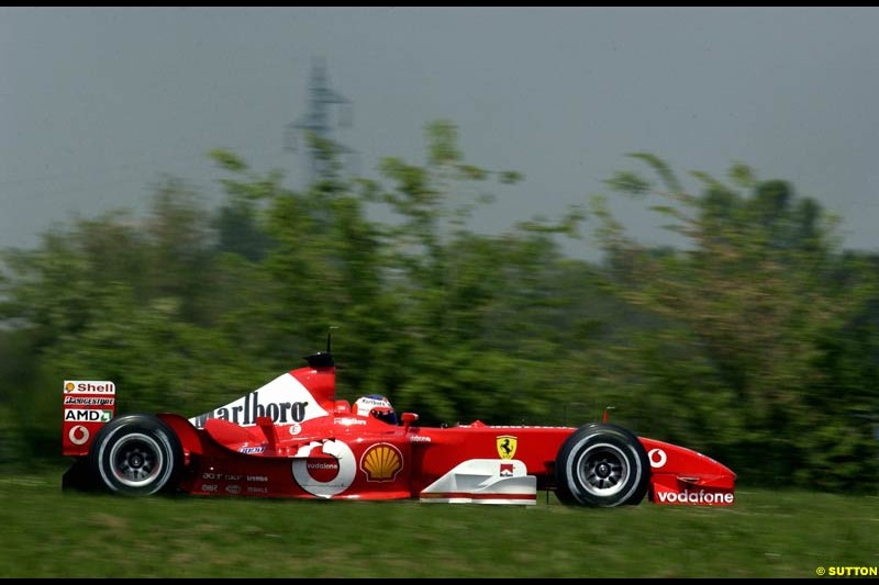 Ferrari's testing at Fiorano, Italy. May 8th 2003.