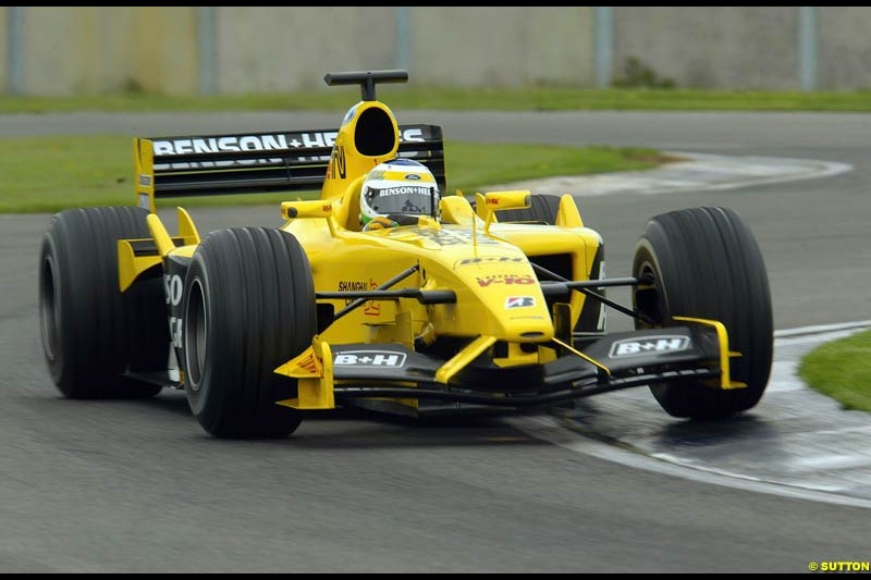 Jordan's testing at Silverstone, England. May 8th 2003.