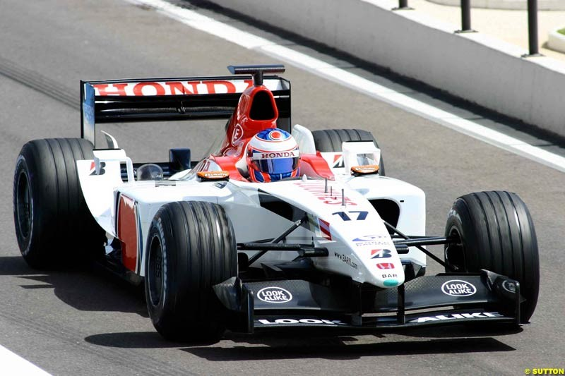 Testing at Paul Ricard, France. May 8th 2003.