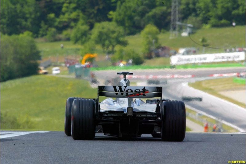 McLaren during qualifying for the Austrian Grand Prix. A1-Ring, Spielberg, Austria. May 17th 2003.