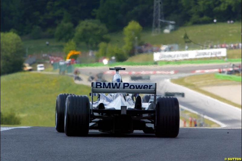 Williams during qualifying for the Austrian Grand Prix. A1-Ring, Spielberg, Austria. May 17th 2003.