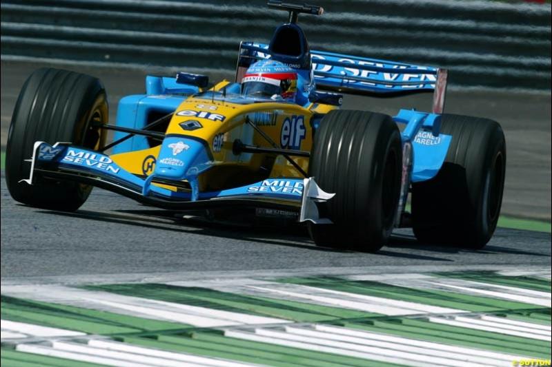 Fernando Alonso, Renault. Austrian Grand Prix. A1-Ring, Spielberg, Austria. May 17th 2003.