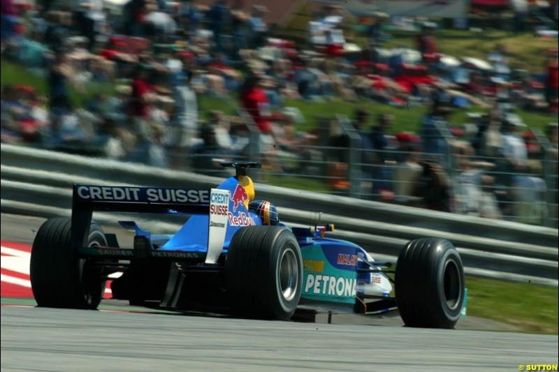 Heinz-Harald Frentzen, Sauber. Austrian Grand Prix. A1-Ring, Spielberg, Austria. May 17th 2003.