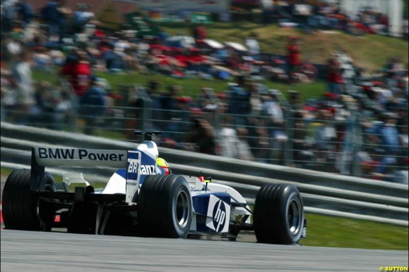Ralf Schumacher, Williams. Austrian Grand Prix. A1-Ring, Spielberg, Austria. May 17th 2003.