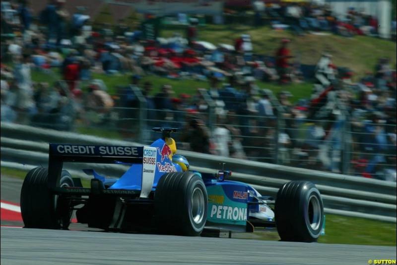 Nick Heidfeld, Sauber. Austrian Grand Prix. A1-Ring, Spielberg, Austria. May 17th 2003.