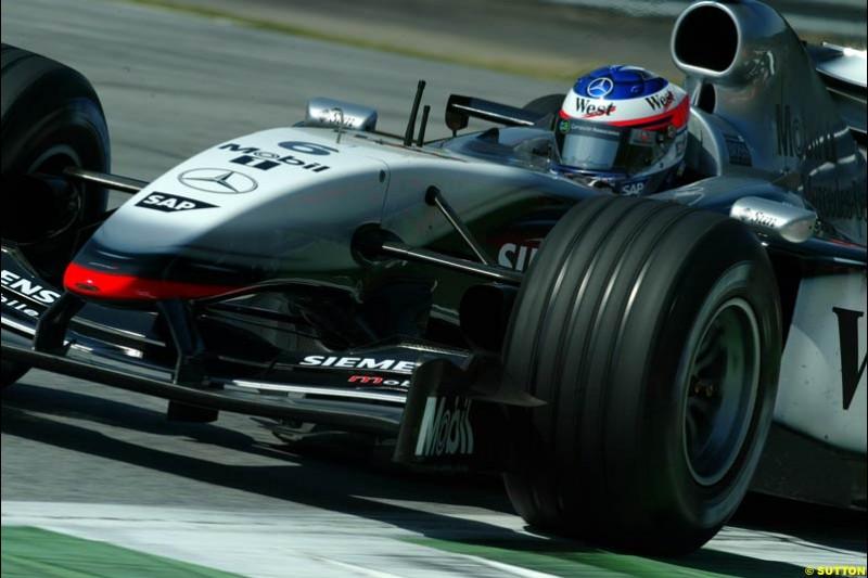 Kimi Raikkonen, McLaren. Austrian Grand Prix. A1-Ring, Spielberg, Austria. May 17th 2003.
