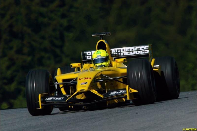 Ralph Firman, Jordan. Austrian Grand Prix. A1-Ring, Spielberg, Austria. May 17th 2003.