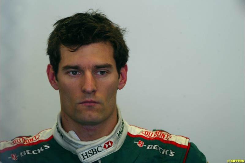 Mark Webber, Jaguar. Austrian Grand Prix. A1-Ring, Spielberg, Austria. May 17th 2003.