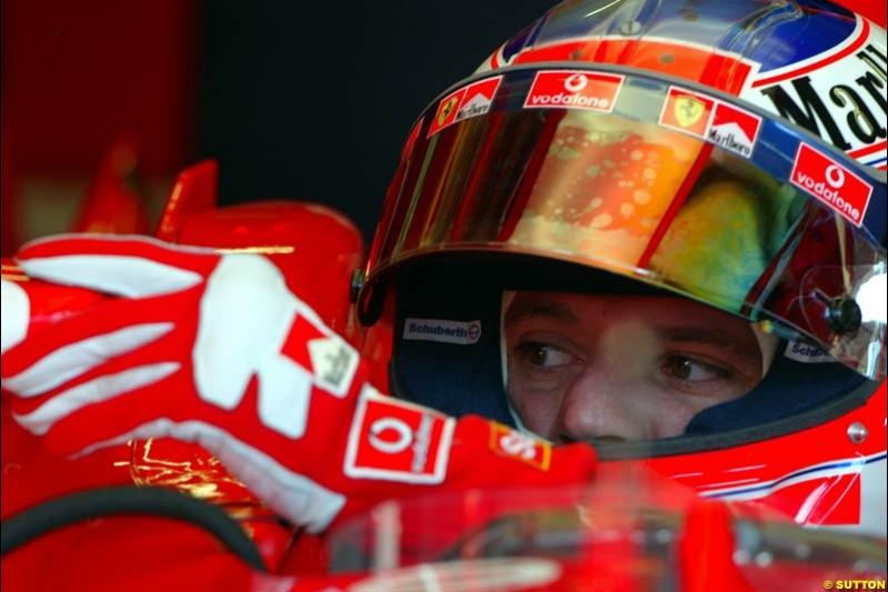 Rubens Barrichello, Ferrari. Austrian Grand Prix. A1-Ring, Spielberg, Austria. May 17th 2003.