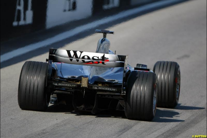 McLaren at the A1-Ring, Spielberg, Austria. May 17th 2003.