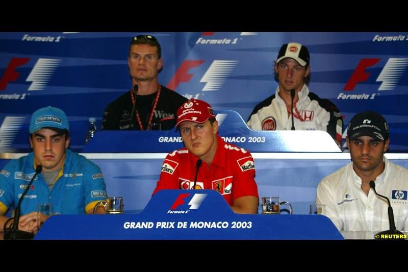 FIA's Wednesday press conference, Monaco Grand Prix, Monte Carlo. May 28th 2003.