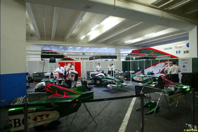 Preparations for the Monaco Grand Prix at the Monte Carlo circuit. 28th May, 2003.