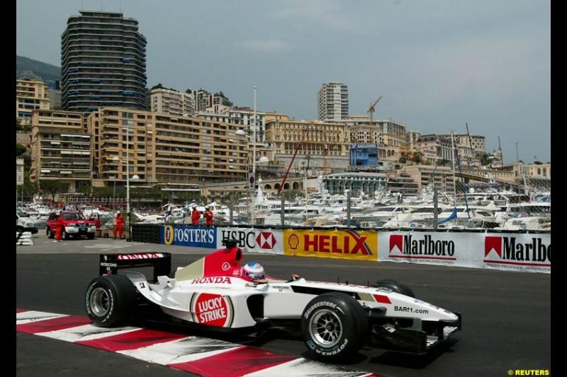 Jenson Button, BAR. Thursday, Monaco Grand Prix. Monte Carlo, May 29th 2003.