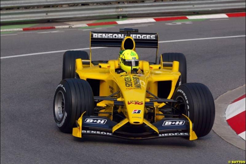 Ralph Firman, Jordan. Thursday, Monaco Grand Prix. Monte Carlo, May 29th 2003.