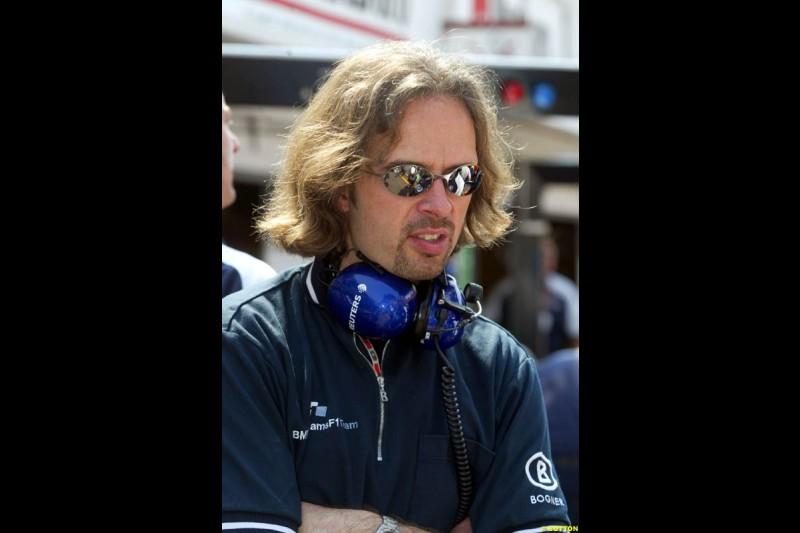 Gavin Fisher, Williams. Thursday, Monaco Grand Prix. Monte Carlo, May 29th 2003.