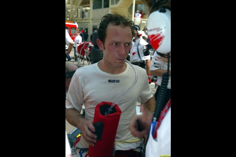 Cristiano da Matta, Toyota. Thursday, Monaco Grand Prix. Monte Carlo, May 29th 2003.