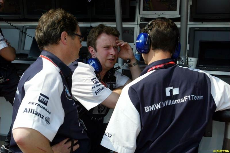 Frank Dernie, Williams. Thursday, Monaco Grand Prix. Monte Carlo, May 29th 2003.