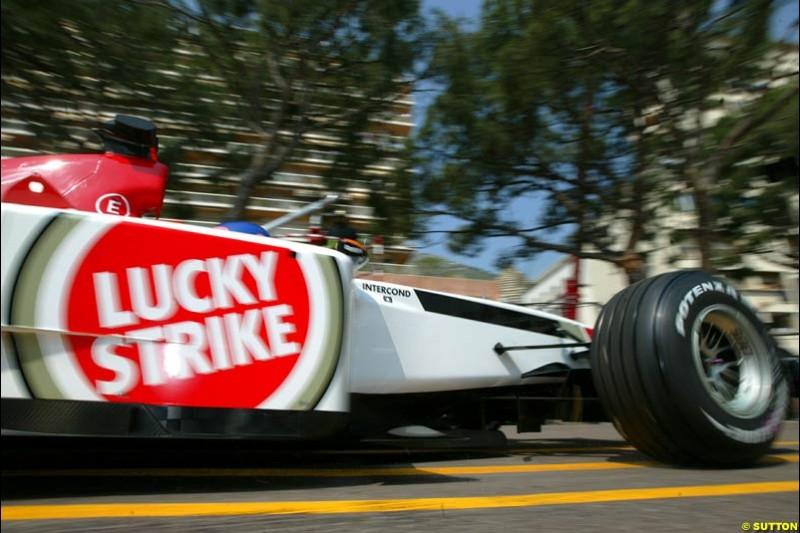 BAR. Thursday, Monaco Grand Prix. Monte Carlo, May 29th 2003.