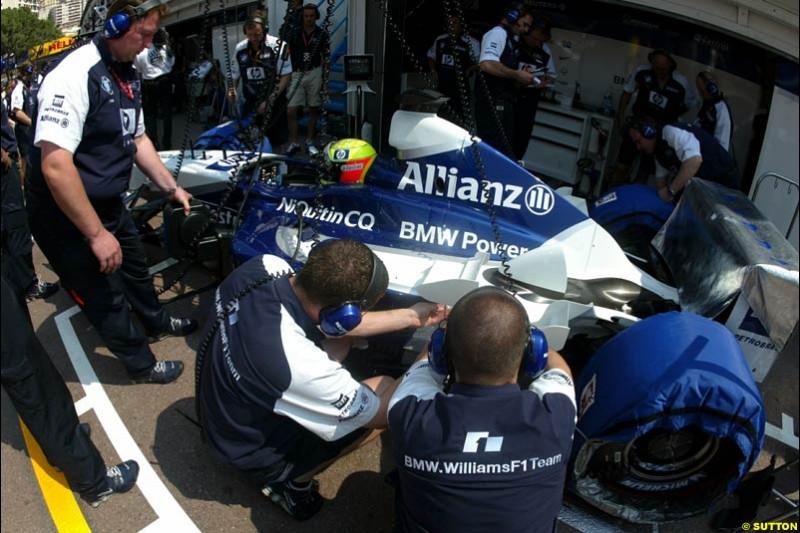 Williams. Thursday, Monaco Grand Prix. Monte Carlo, May 29th 2003.