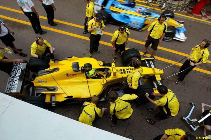 Jordan. Thursday practice, Monaco Grand Prix. Monte Carlo, May 29th 2003.
